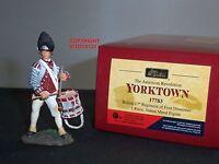 BRITAINS 17783 BRITISH 17TH REGIMENT OF FOOT DRUMMER METAL TOY SOLDIER FIGURE