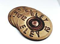 SHOOTING GIFT SHOTGUN CARTRIDGE COASTERS PRESENT IDEA BIRTHDAY SET x6