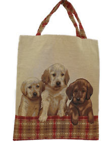 Hunde Tasche, Gobelin, Labrador, Welpen, Einkaufs Beutel Einkaufstasche
