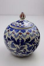 Turkish Art Pottery by Metin Gini Stunning Large Pot & Lid Signed