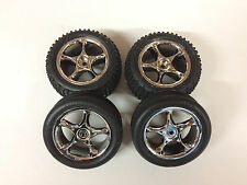 Traxxas Bandit Front & Rear Alias Tires & Chrome Wheels 2470 2471