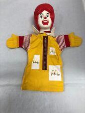 2 Vtg Premuim Toy Ronald McDonald Plastic Hand Puppet Promo NOS New 1970s-80s