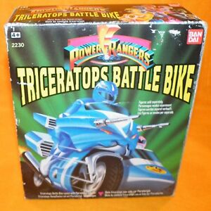 1993 BANDAI POWER RANGERS TRICERATOPS BATTLE BIKE BOXED