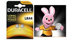 2 DURACELL LR44 A76 V13GA 1.5V/B ALKALINE LITHIUM COIN CELL BUTTON BATTERY SET