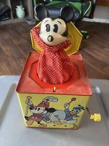 vintage 1950s disney micky jack in the box