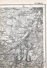 F68 Altkirch Zillisheim Mulhouse 1889 1915 kl orig Teil-Karte Brunstatt Tagsdorf