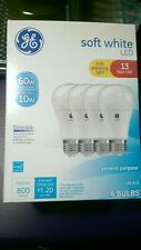 NEW GE 67615 Dimmable LED A19 60w/10w 4pk.
