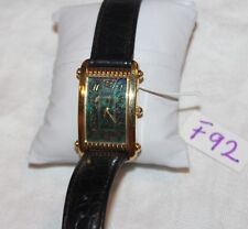 Fossil women's black leather band.quartz Analog watch.Dr-2060 F92