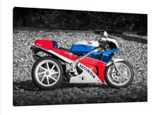 Honda VFR750R - 30x20 Inch Canvas Framed Picture Print RC30