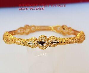 Indian Women's Bangle Bracelet 18K Yellow Gold Filled 58 MM Fashion Jewelry 8mm