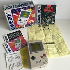Rare Boxed Nintendo Gameboy DMG + Star Wars Game & Original Purchase Receipt