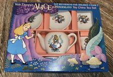 Rare Vintage Walt Disney Alice In Wonderland Toy China Tea SetIn Box