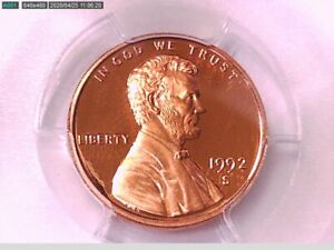 1992 S Lincoln Memorial Cent PCGS PR 69 RD DCAM 80832274