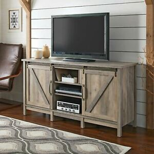 Better Homes & Gardens 421192 Modern Farmhouse TV Stand - Rustic Gray
