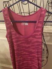 NWT Under Armour Womens Pink Camouflage Fitted Tank Top Heatgear Shirt -SZ Small
