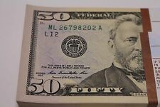 4 GEM 2013 Fifty Dollar Notes New Uncirculated FRB San Francisco 50 Bill ML- A