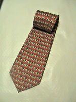 Elephant Design Men Tie Necktie Cravate Homme 100% Silk 100% Soie RENE CHAGAL