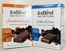 Extend Nutrition 8 Anytime Bars, Chocolate Caramel, Cookies Cream Blood Sugar