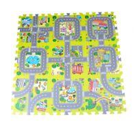 9pcs Traffic Route Kids Soft EVA Foam Puzzle Education Floor Play Mats、New