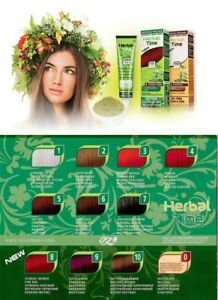 HERBAL TIME COLOURING CREAM WITH HENNA EXTRACT DYE READY TO USE 75ML
