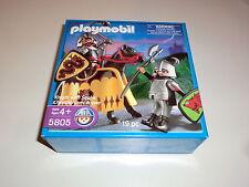 Playmobil 5805 Schlangen Ritter Wolf Ritter Knight with Squire Neu & Ovp