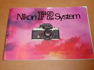 Nikon F2 System brochure - Rare