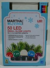 Martha Stewart Living 50 LED Small Globe Lights Multi-Color Sugar Plum NEW
