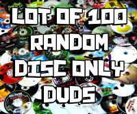 Lot of 100 RANDOMLY ASSORTED DISC ONLY DVD Random Bulk Wholesale Liquidation