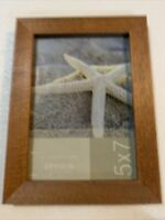 5x7 Solid Wood Picture Frame Tropical Wood Finish Flat Look