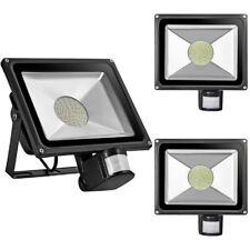 3x 50W LED SMD Außen Strahler mit Bewegungsmelder Fluter Warmweiβ Flutlicht IP65