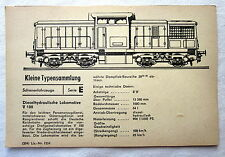DDR Kleine Typensammlung Schienenfahrzeuge - Dieselhydraulische Lokomotive V 100