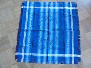 Trachtentuch blau weiß Tuch Tracht kleine Fransen Seide?