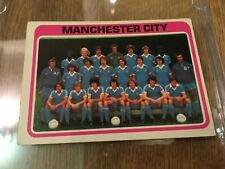 Manchester City TOPPS Football Card MCFC Team Photo Squad 1979 Blue Back #387