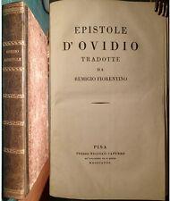 CLASSICI: REMIGIO, EPISTOLE D'OVIDIO.