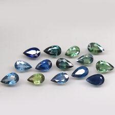 4.27Ct. Natural Green Blue Sapphire Africa Pear Shape 5x3mm.Heated 17 Pcs.
