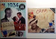 1934 83rd Birthday Gifts Set - 1934 DVD , Pop CD and Card - CD Card Company