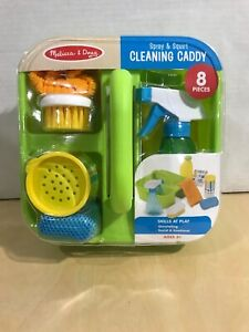 Melissa & Doug Pretend Play Spray & Squirt Cleaning Caddy Playset