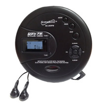 Supersonic Sc-253Fm Personal Mp3/Cd Player with Fm Radio, Black
