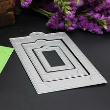 3pcs Frame Embossing Cutting Dies Stencils for DIY Scrapbooking Paper Card Craft