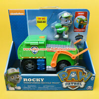 PAW Patrol Dog Rocky Transforming Recycle Truck Nickelodeon Model Doll Kid Toy