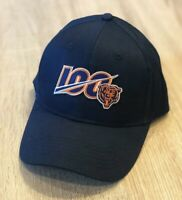 Chicago Bears NEW NFL 100th Season Cap Hat  2019 Adjustable Patch Style 100 Navy