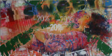 M. DELVECCHIO OLIO 120x60 + catalogo con lodola schifano rotella warhol kostabi