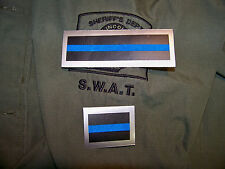 THIN BLUE LINE Silver Framed Police Decals - Set of Two- FREE SHIPPING FOP  PBA