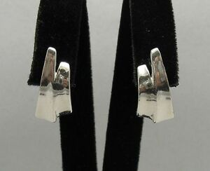 Stylish Sterling Silver Earrings Genuine Solid 925 New Handmade Empress E000029