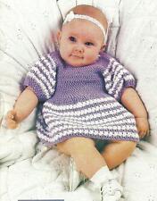 *Baby's Keepsake Dress & Matching Doll Dress crochet PATTERN INSTRUCTIONS