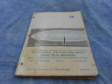 Motorola FM Two Way Radio Base(RA) Station Instruction Manual # 68P81045A4 #359