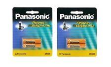 2 Packs of OEM Panasonic HHR-4DPA/2B Ni-MH Rechargeable Cordless Phone Battery
