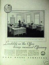 1931 Wood Office Furniture Memorabilia Associates Inc Modern Vintage Art AD