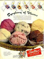 1951 Sealtest Ice Cream Symphony of Flavors Fun Iconic Kitchen Decor PRINT AD