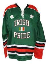 7111826bb Custom Name   Ireland Irish Pride Retro Hockey Jersey New Green Lucky Any  Size